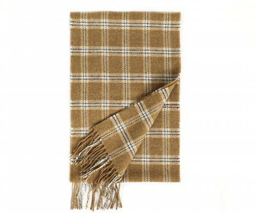Lambswool Scarf - Camel Check Scarf